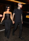 Kourtney Kardashian and Travis Barker step out to dinner rocking all-black outfit at The Polo Bar in New York City