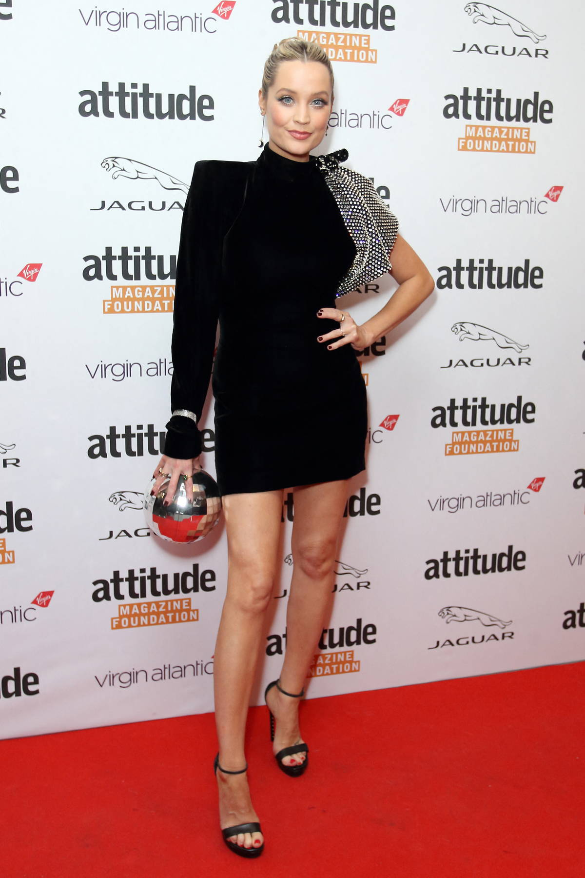 Laura Whitmore attends The Virgin Atlantic Attitude Awards 2021 at The Roundhouse in London, UK