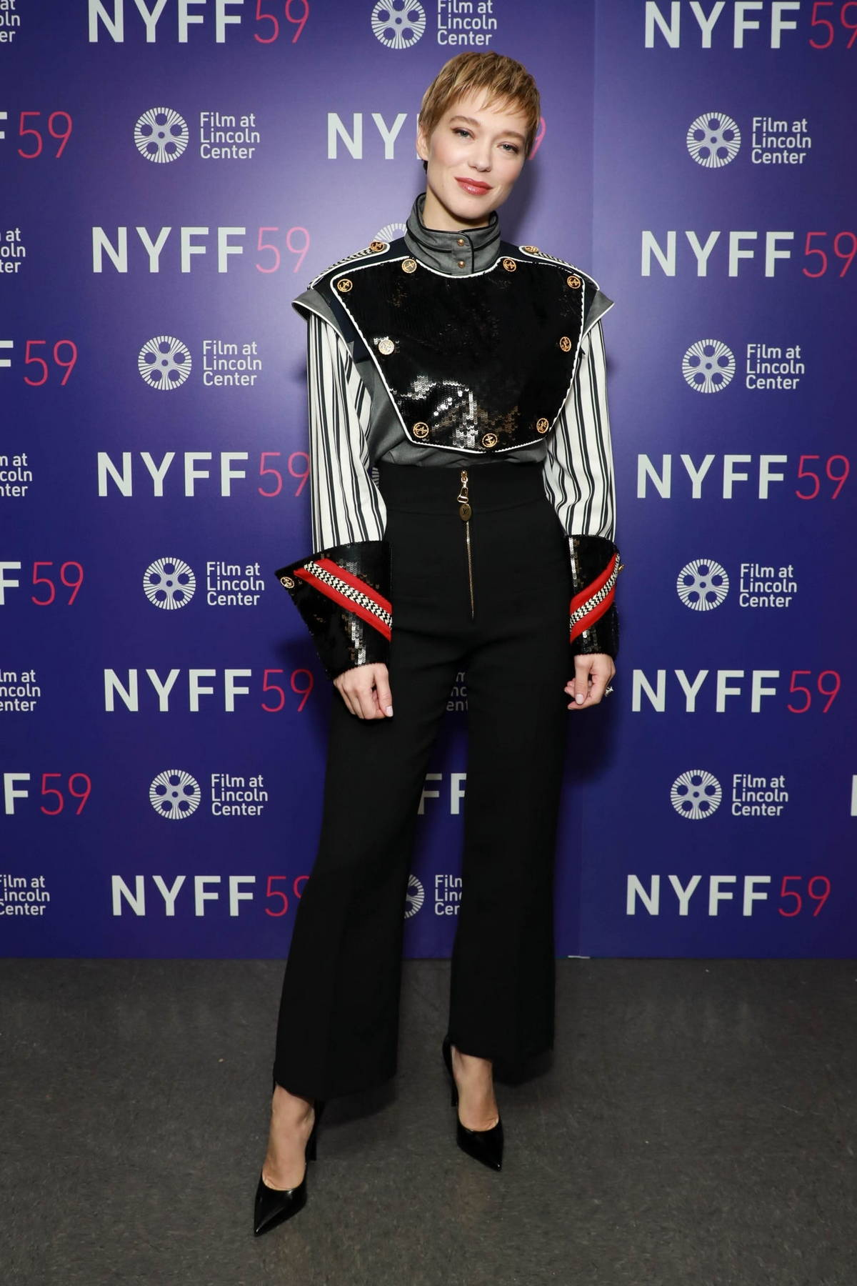 Lea Seydoux attends a screening of 'The French Dispatch' during the 59th New York Film Festival in New York City