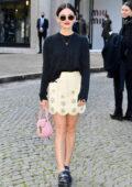 Lucy Hale attends the Miu Miu Womenswear SS22 show during Paris Fashion Week in Paris, France