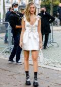 Maddie Ziegler attends the Miu Miu Womenswear SS22 show during Paris Fashion Week in Paris, France