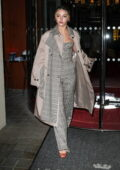 Madelyn Cline looks stylish leaving Hotel Royal Monceau during Paris Fashion Week in Paris, France