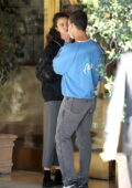 Margaret Qualley gets emotional as she hugs her boyfriend Jack Antonoff while out on a date in Los Angeles
