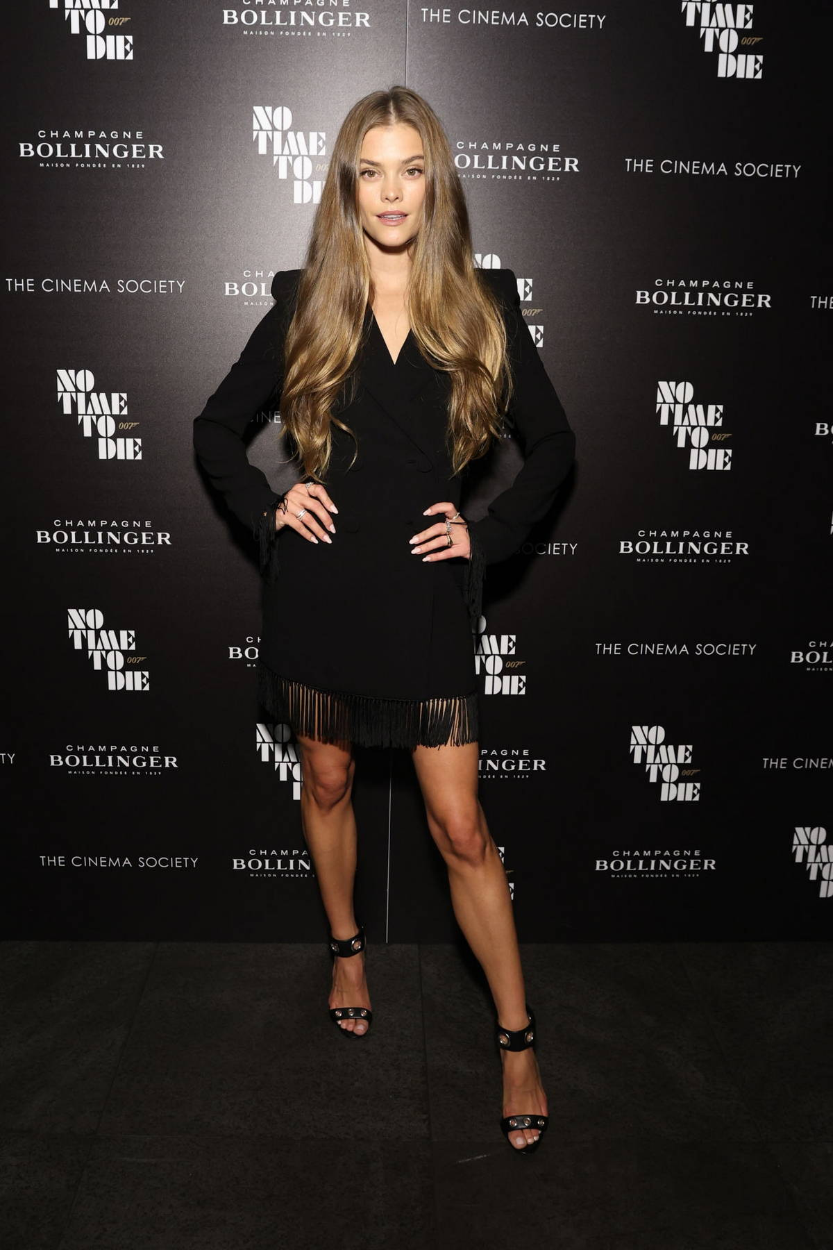 Nina Agdal attends the 'No Time To Die' New York Screening at iPic Theater in New York City