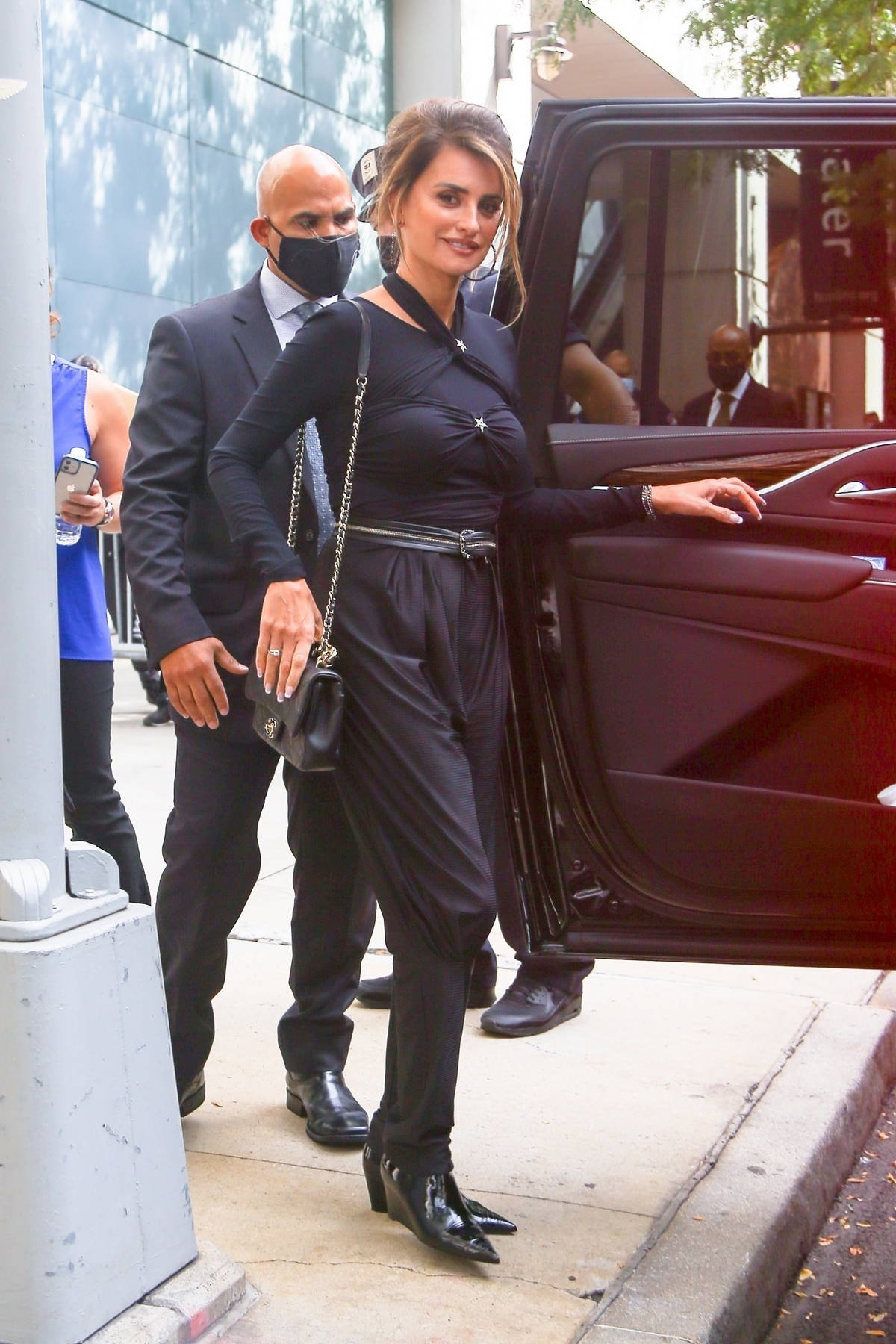 Penelope Cruz dons an all-black ensemble while heading out in New York City