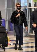Penelope Cruz looks stylish as she arrives at JFK International Airport in New York