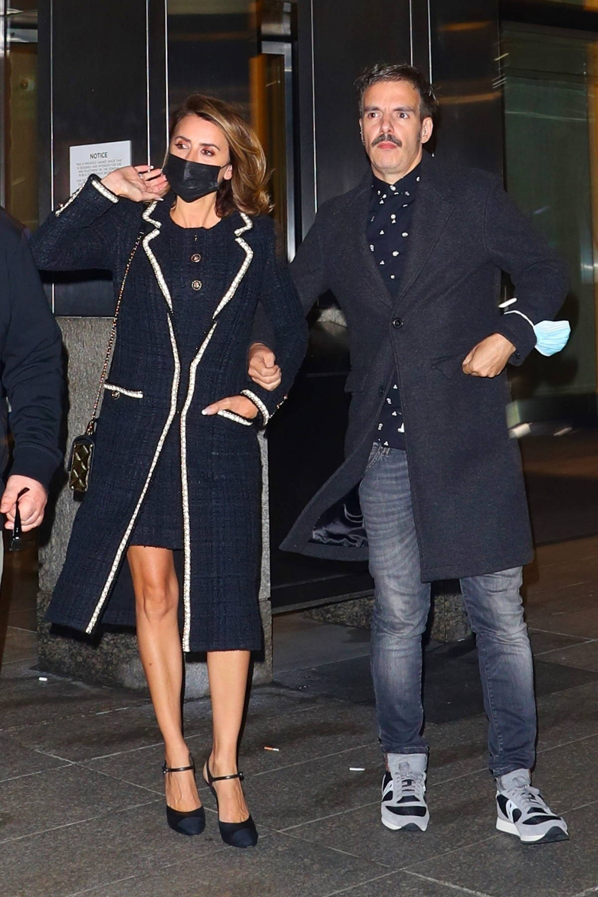 Penelope seen leaving after dinner with friends at Nobu Fifty Seven in New York City