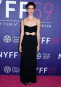 Rebecca Hall attends the Premiere of 'Passing' during the 59th New York Film Festival at Alice Tully Hall in New York City