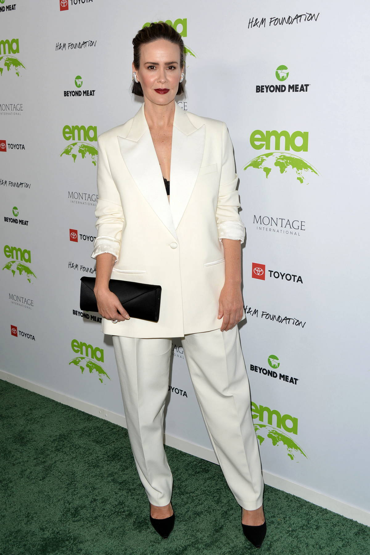 Sarah Paulson attends the 2021 EMA Awards Gala at Gearbox LA in Los Angeles