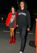 Vanessa Hudgens and boyfriend Cole Tucker enjoy a date night at The Rolling Stones concert in Los Angeles